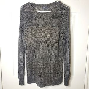 Vince metallic mesh net sweater xs